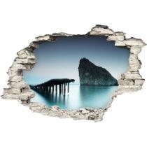 Samolepka Ambiance Bridge on The Sea, 60×90 cm