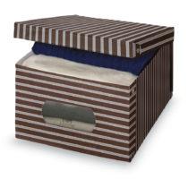 Hnedo-sivý úložný box Domopak Living, 24×&am...