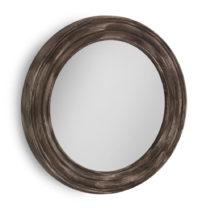Hnedé nástenné zrkadlo Geese, Ø 67 cm