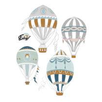 Sada 4 nástenných samolepiek Dekornik Ballons