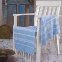 Hammam osuška Sultan Light Blue, 100×180 cm