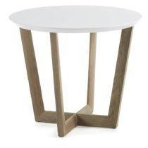Odkladací stolík z dubového dreva s bielou doskou La Forma Rondo, &#x...