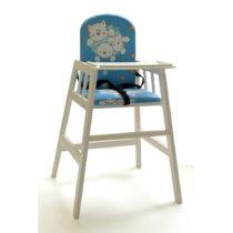 Biela drevená detská jedálenská stolička Faktum Abigel...