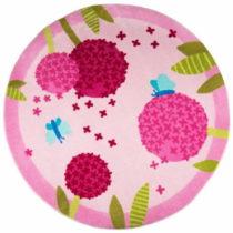 Detský koberec Polen Pink, ⌀ 133 cm