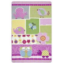 Detský ružový koberec Confetti Patchwork, 133x190&am...