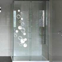 Samolepka na dvere do sprchy Ambiance Soap Bubbles