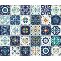 Sada 30 dekoratívnych samolepiek na stenu Ambiance Forli, 20×2...