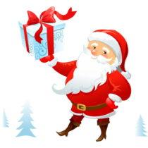 Vianočná samolepka Ambiance Santa Claus Lapland