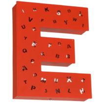 Červená svetelná dekorácia v tvare písmena Glimte Lett...