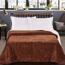 Hnedý obojstranný pléd na posteľ DecoKing Lamby, 220&...