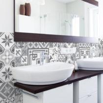 Sada 30 nástenných samolepiek Ambiance Wall Stickers Cement Tiles Azulejos Marco, ...