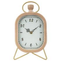 Ružové stolové hodiny s detailmi v zlatej farbe Mauro Ferretti Glam