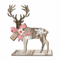 Drevená vianočná dekorácia PPD Deer Small Country Xmas, v&#...