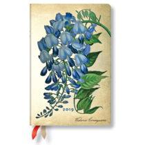 Diár na rok 2019 Paperblanks Blooming Wisteria Verso, 9,5 x 14 cm