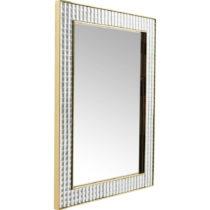 Nástenné zrkadlo Kare Design Crystals Gold, 120 × 80cm