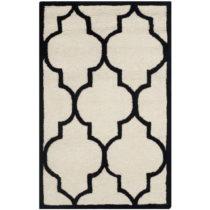 Bieločierny vlnený koberec Everly 121×182 cm