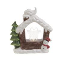 Vianočná keramická svetelná dekorácia v tvare dom&...