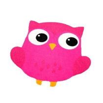Detský fuksiovoružový koberec Zala Living Owl, 66×&am...