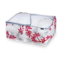 Červeno-biely úložný box na paplóny Domopak Living, d...