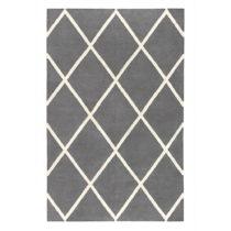 Sivý obojstranný koberec vhodný aj do exteriéru Green Decore Dia...