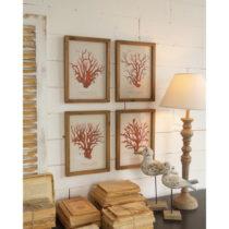 Sada 4 nástenných obrazov Orchidea Milano Corallo