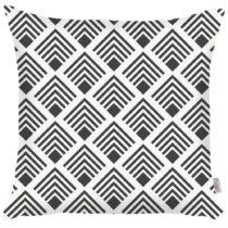 Čierno-biela obliečka na vankúš Apolena Geometrical, 43&#...