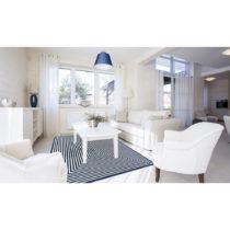 Modrý vysokoodolný koberec vhodný do exteriéru Floorita Braid, 2...