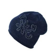 Modrá čiapka s trblietavými kamienkami Star
