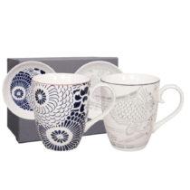 Sada 2 porcelánových hrnčekov s tanierikom Tokyo Design Studio Shiki, 38...