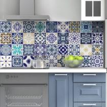 Sada 60 nástenných samolepiek Ambiance Wall Decal Tiles Azulejos Cyprus, 15&#x...