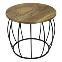 Odkladací stolík z mangového dreva HSM Collection Crown, ⌀ 40 ...