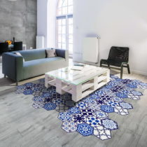 Sada 10 samolepiek na podlahu Ambiance Floor Stickers Hexagons Jena, 40×&#xA0...
