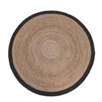 Jutový koberec s čiernym okrajom LABEL51 Rug,⌀ 180...
