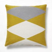 Žlto-sivý vankúš La Forma Vang, 45×&#xA...