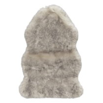 Sivohnedý koberec z umelej kože Mint Rugs, 170×120 c...