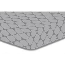 Sivá elastická plachta z mikrovlákna DecoKing Rhombuses, 220&am...
