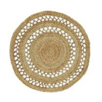 Jutový okrúhly koberec Eco Rugs Asako, Ø 120 cm