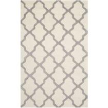 Bielosivý vlnený koberec Safavieh Ava, 152 × 243 cm
