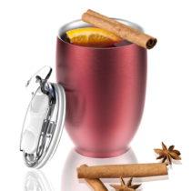 Červený termohrnček z antikoro ocele Imperial Beverage, 300 ml