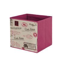 Červený úložný box Domopak Stamps, dĺ&#...