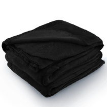 Čierna deka z mikrovlákna AmeliaHome Tyler, 170 × 200 cm