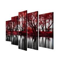 5-dielny obraz na plátne Red Leaves