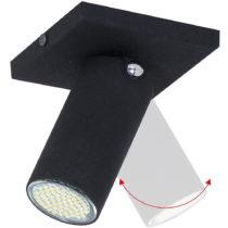 Čierne stropné svietidlo Glimte Plafond Short Uno Slim II
