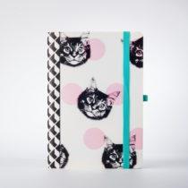 Zápisník s motívom mačiek Just Mustard Cat