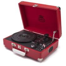 Červený gramofón s rádiom GPO Attache Red
