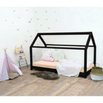 Čierna detská posteľ bez bočníc zo smrekové...