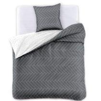 Sivo-biela obojstranná obliečky s vankúšom 70&#x...