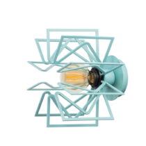 Bledomodrá nástenná lampa Radius
