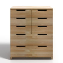 Komoda z bukového dreva s 8 zásuvkami Skandica Spectrum