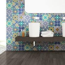 Sada 9 nástenných samolepiek Ambiance Wall Stickers Tiles Azulejos Vintage Arabesq...
